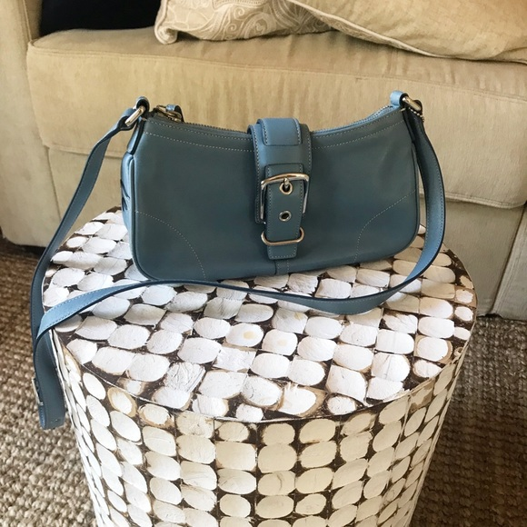 Coach Handbags - Coach purse Blue leather